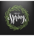 Hello spring Spring wreath Spring flowers are vector image