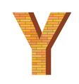 brick letter Y vector image