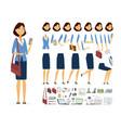 businesswoman - cartoon people character vector image