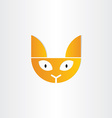 cat head icon design vector image