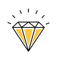 diamond rich isolated icon vector image