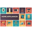 Home Appliances -flat design icons set vector image