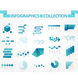 infographics collection blue world vector image