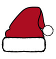 isolated christmas hat vector image