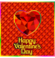 postcard on Valentines day vector image