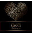 Romantic background with antique luxury black and vector image