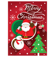 Santa Christmas Text and Tree vector image