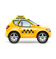 Taxi car isolated on white vector image
