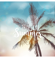 Tropical Background Palm Leaves Palms vector image
