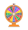 Wheel of fortune flat design template vector image