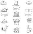 Hand draw thanksgiving doodle vector image