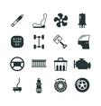 Car parts mechanic icons set vector image vector image