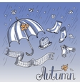 Sketch of autumn clothes and accessories vector image vector image