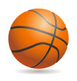 3d basketball isolated ball on white background vector image