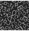 music note icons on black board seamless pattern vector image