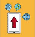 Digital marketing vector image