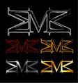 Alphabet M logo vector image