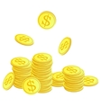 Golden coins with dollar symbol vector image