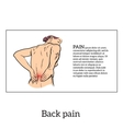 Low back pain in women black and white sketch vector image