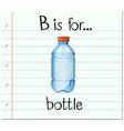 Flashcard letter B is for bottle vector image