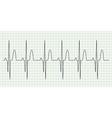 Electrocard diagram on grid paper vector image vector image