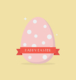 Happy easter with polka dot egg vector image