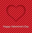 Heart from shadow valentines day card vector image
