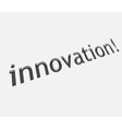 innovation text design vector image
