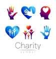 Set Symbol of CharitySign vector image