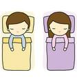 Sleeping Boy and Girl vector image
