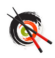 sushi icon traditional japanese food vector image