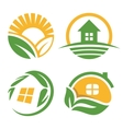 Isolated countryside house logo set vector image
