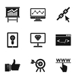 SEO optimization icons set simple style vector image