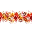 seamless red border with different snowflakes vector image