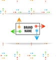 brand name arrow vector image