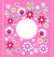 Folk Design With Flower-8 vector image