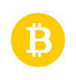 bitcoin sign logo vector image