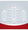 Fir-Trees Christmas Greeting Card vector image
