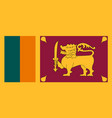 flag of sri lanka in national colors vector image