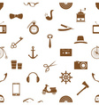 hipster theme and culture set of icons in seamless vector image