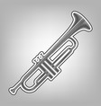 musical instrument trumpet sign pencil vector image