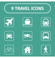 Traveling and transport icons for Web and Mobile vector image