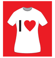 I love t-shirt for women vector image vector image