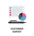customer survey icon vector image