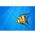 A striped colored fish under the sea vector image vector image