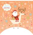 Santa goes on deer vector image