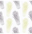 Hand drawn lemongrass branch wirh flowers stylized vector image