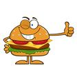 Winking Hamburger Cartoon vector image