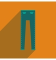 Flat icon with long shadow mens pants vector image