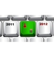 Christmas keyboard key vector image vector image